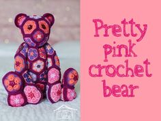 I loved making this Crochet Bear Toy and he's so much fun when he's finished! You can make him with jointed arms & legs or for smaller children....