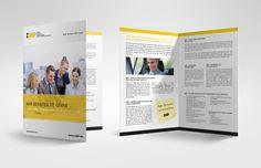 Folder A4 für IQBP - Institut für Qualität und Begutachtung im Personenbeförderungsgewerbe Grafik Design, Magazine Rack, Storage, Advertising Agency, Purse Storage, Larger, Store