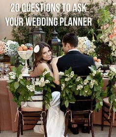 20 Questions to Ask Your Wedding Planner. Other lists of questions to ask people you may hire for the wedding