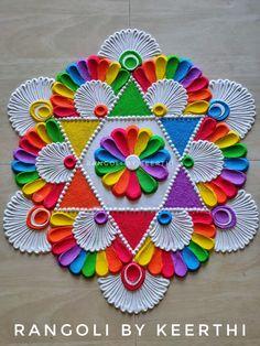 Best Rangoli Design, Rangoli Designs Latest, Simple Rangoli Designs Images, Rangoli Designs Flower, Free Hand Rangoli Design, Rangoli Border Designs, Colorful Rangoli Designs, Rangoli Designs Diwali, Kolam Designs