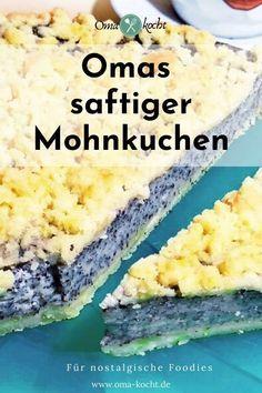 Easy Cake Recipes, Clean Recipes, Baking Recipes, Snack Recipes, Dessert Recipes, German Baking, Sweet Bakery, Baking And Pastry, Bakery Cakes