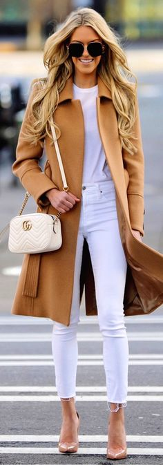 #spring #outfits  brown coat. Pic by @macystucke