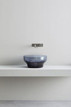 Over counter Murano washbasin made of Murano grey glass