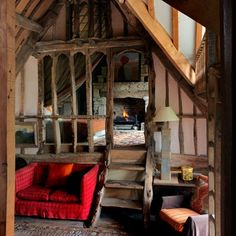 Lincoln Seligman Oxfordshire Barn - Mezzanine Bedroom - Take a look around the beautiful homes and inspiring studios of our favourite artists - interiors on HOUSE by House & Garden