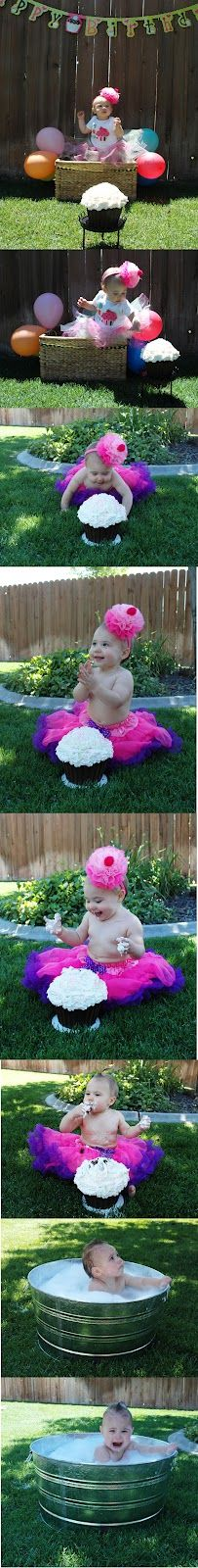 My little princess's first birthday pictures....The Keeper of the Cheerios