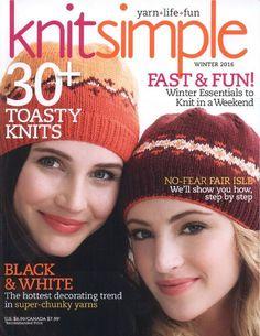 "Photo from album ""Knit Simple Winter on Yandex. Crochet Magazine, Knitting Magazine, Knitting Books, Easy Knitting, Crochet Patterns For Beginners, Knitting Patterns, Knitted Hats, Crochet Hats, Knit Crochet"
