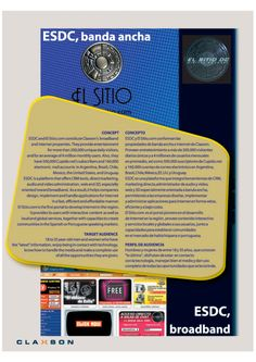 Diseño Gráfico. Cliente: Claxson. Señal ESDC-Claxson Media Kit 2003-2004. Pay TV – Broadcast – Broadcast and Broadband.