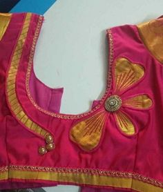Best 11 Stylish blouse back neck design – SkillOfKing. New Saree Blouse Designs, Cutwork Blouse Designs, Patch Work Blouse Designs, Simple Blouse Designs, Stylish Blouse Design, Sari Blouse, Neck Designs For Suits, Back Neck Designs, Dress Neck Designs