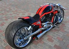 Custom Harley Davidson Supercharged V Rod Vrod Custom, Custom Harleys, Custom Choppers, Custom Street Bikes, Custom Bikes, Moto Bike, Motorcycle Bike, Bobbers, Vrod Harley