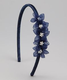 Love this Navy Blue Blossom Headband on #zulily! #zulilyfinds