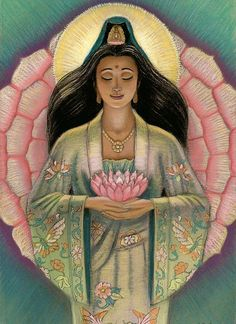 Kuan Yin was a wonderful example of kindness & compassion in her life. She is a source of inspiration for me & a teacher of how to respond compassionately to myself & others in life.