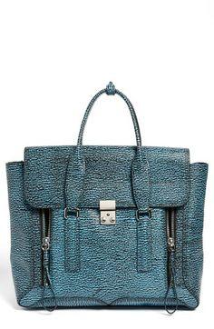4674d326a92 Phillip Lim  Pashli  Shark Embossed Leather Satchel available at. Sarit  Blumenfeld · Blue bags