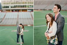 University of Cincinnati spring engagement with Caroline and Todd