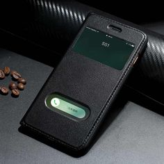 """Genuine Leather Case For Apple Iphone 7 Plus Luxury Magnetic Protective Cover Window View Coque For Iphone 7Plus 5.5"""" Flip Case"""
