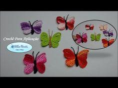 Borboletas para ser Aplicadas em Diversos Trabalhos em Crochê.Fácil de fazer / Cristina coelho alves - YouTube