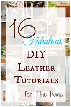 16 Fabulous DIY Leather Tutorials For The Home