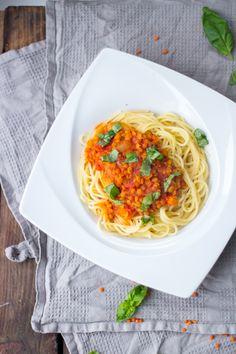Vegane Spaghetti Linsen-Bolognese