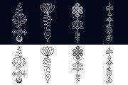 11 Unalome & lotus Sacred symbols - Illustrations - 3