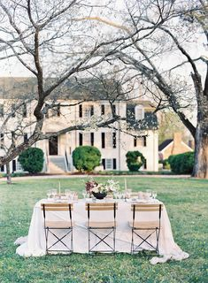 North Point Plantation Editorial - Rachel May Photography || Rentals: White Glove Rentals ft. Bistro Chairs. Planning + Styling: East Made Events. Florals: Blossom + Vine. Runner: Frou Frou Chic. Tablecloth: Party Rental Ltd. As Seen In: Once Wed.