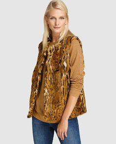 Chaleco de mujer Zendra El Corte Inglés de pelo con print de leopardo Moda  Online b969f55d963f