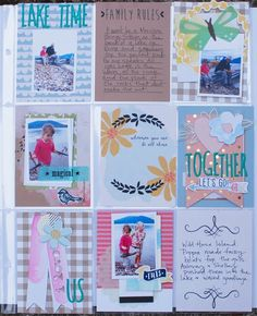 Lake Time, by Denise Morrison Pocket Page spread using the March DITL by @cocoadaisykits  #pocketpages #DITL #projectlife