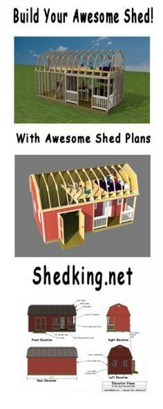 Easy to use plans with detailed building guides materials lists and email support. #shedplans Outside Playhouse, Build A Playhouse, Playhouse Kits, Shed Building Plans, Shed Plans, Garage Plans, Marketing Website, She Sheds, H & M Home