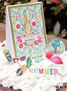 Ma Carte d'Invitation Ananas Waikiki Beach