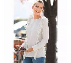 Asymetrická halenka s dlouhými rukávy a | vyprodej-slevy.cz #vyprodejslevy #vyprodejslecycz #vyprodejslevy_cz #halenka #kosile Ruffle Blouse, Women, Fashion, Moda, Women's, Fasion, Trendy Fashion, La Mode