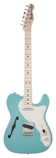 Fender Electric Guitar Custom Shop 1969 Telecaster Thinline Teal Green | Rainbow Guitars #vintageguitars
