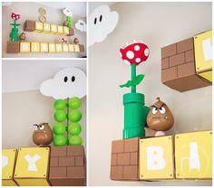 Aylah's Mario Party Super Mario Party, Super Mario Birthday, Mario Birthday Party, 6th Birthday Parties, Mario Party Games, Nintendo Party, Princess Peach Party, Mario Und Luigi, Party Themes