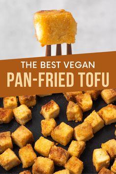 The best pan-fried crispy tofu recipe. Easy to make, using very simple ingredients.