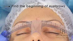 Deluxe Brows® Eyebrows Measurement with ruler
