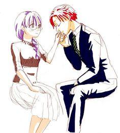 Karma x okuda Best Teacher Ever, Okuda, Assasination Classroom, Kimi No Na Wa, Anime Ships, More Cute, You're Awesome, Assassin, Me Me Me Anime