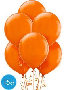 Orange Peel Latex Balloons 12in 15ct - Party City