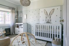 A beautiful unisex nursery featuring a Mocka Amalfi Cot and Brooklyn Change Table and Drawers Set. Styled by Little Dwellings.