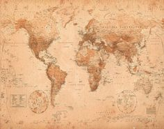 World Map - Antique Posters at AllPosters.com