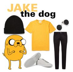 """""""Jake the dogs"""" by hyperducky ❤ liked on Polyvore featuring Dolce&Gabbana, Common Projects, ASOS, Tateossian, men's fashion and menswear"""