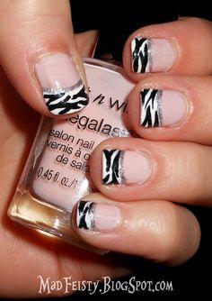 Zebra tips - super cute!