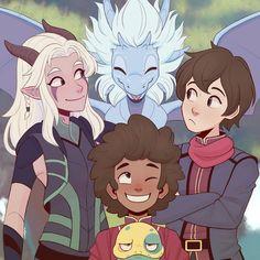 Rayla Dragon Prince, Prince Dragon, Dragon Princess, Rayla X Callum, Dragons, Dreamworks, Comic Anime, Animation, Cartoon Shows