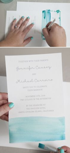 (Wording in this one for reception only) How to watercolor your wedding invitations! #weddinginvitation #howtowordweddinginvitationsreceptions #weddinginvitationwording
