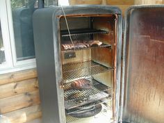 Old fridge = new meat smoker, instructions on how to make