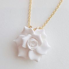 Etonnant Gardenia Necklace   Gardenia Jewelry, Gardenia Bridal Jewelry, Gardenia  Wedding Necklace