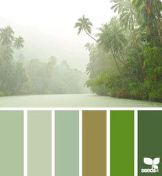 New Ideas Bath Room Design Tropical Color Schemes Colour Pallette, Colour Schemes, Color Combos, Coordination Des Couleurs, Tropical Colors, Green Colors, Design Seeds, Colour Board, Tropical Houses