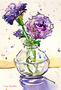 Nora MacPhail Gallery of Original Fine Art Watercolor Paintings For Beginners, Watercolor Pictures, Pen And Watercolor, Abstract Watercolor, Watercolor Illustration, Watercolor Flowers, Watercolour Painting, Arte Floral, Art Plastique