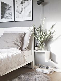 Awesome Favourite Scandinavian Bedroom Design Ideas - Page 32 of 55 Cosy Bedroom Decor, Rustic Bedroom Design, Bedroom Ideas, Luxury Homes Interior, Luxury Home Decor, Scandinavian Home Interiors, Scandinavian Design, Scandinavian Furniture, Luxury Bedding Sets