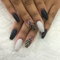 99 Brilliant Dark Nail Designs Ideas To Make Others Envious Nail Art Style Dark Nail Designs, Nail Designs Spring, Cute Nail Designs, Clear Nail Designs, Trendy Nails, Cute Nails, Hair And Nails, My Nails, Acrylic Nails Natural