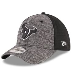 ff9c10395 Men s New Era Heathered Gray Black Houston Texans Shadowed Team 39THIRTY  Flex Hat
