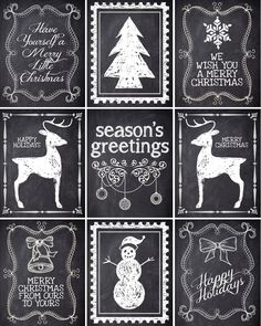 Free Christmas gift labels {printables} from @jan issues issues issues issues issues issues Howard to Nest for Less