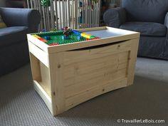 Coffre a jouet coffre jouet pinterest - Fabriquer un coffre a jouet ...