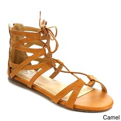 BEI Beston FA55 Women's Lace-up Strapped Gladiator Flat Sandals